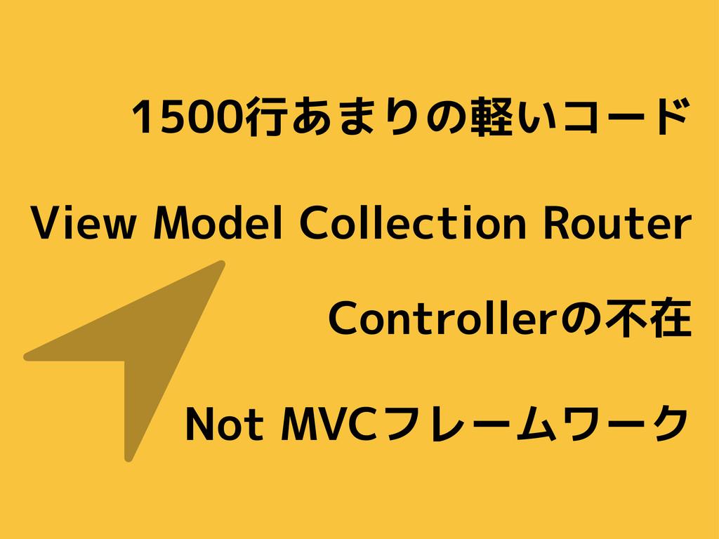 1500行あまりの軽いコード View Model Collection Router Con...