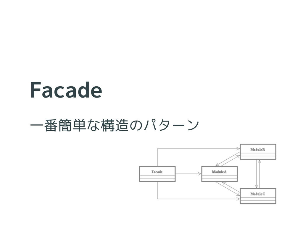 Facade 一番簡単な構造のパターン