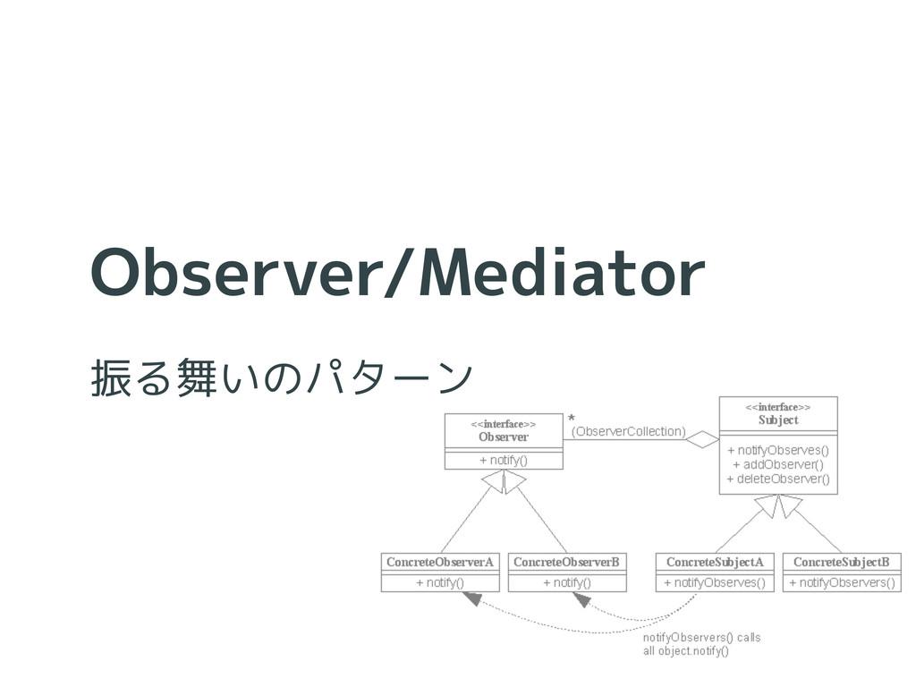Observer/Mediator 振る舞いのパターン