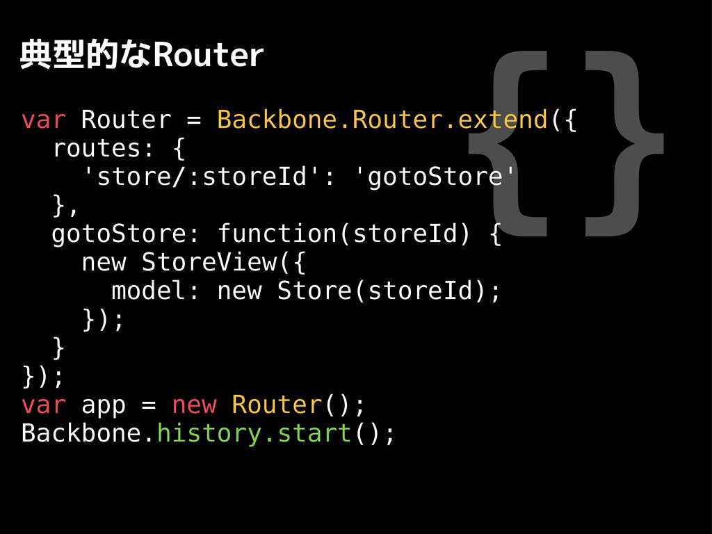 {} 典型的なRouter var Router = Backbone.Router.exte...