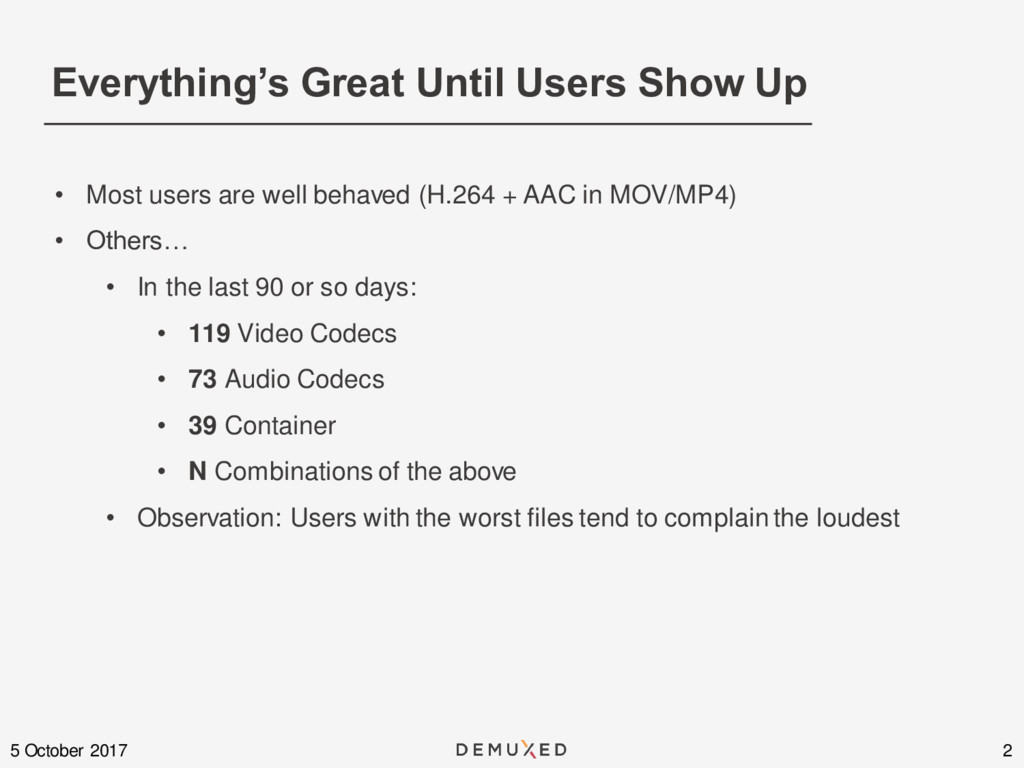 Everything's Great Until Users Show Up 2 5 Octo...