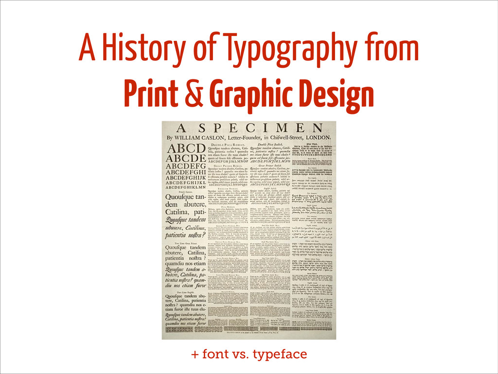 A History of Typography from Print & Graphic De...