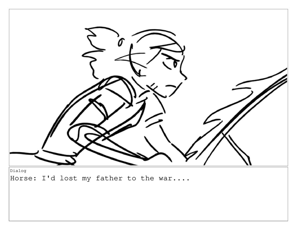 Dialog Horse: I'd lost my father to the war....