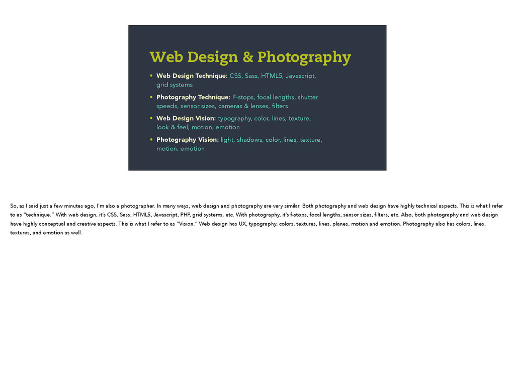 • Web Design Technique: CSS, Sass, HTML5, Javas...
