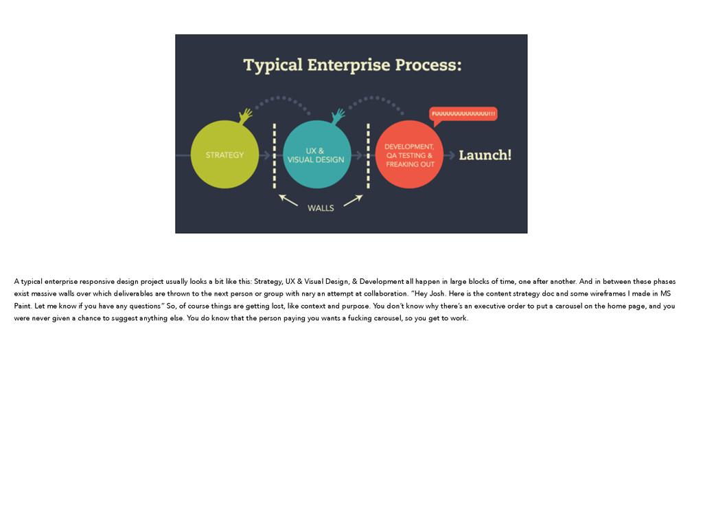 A typical enterprise responsive design project ...