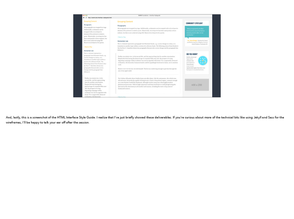 And, lastly, this is a screenshot of the HTML I...