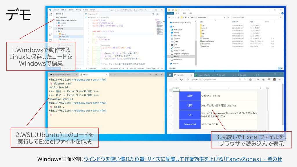 1.Windowsで動作する Linuxに保存したコードを Windowsで編集 2.WSL(...
