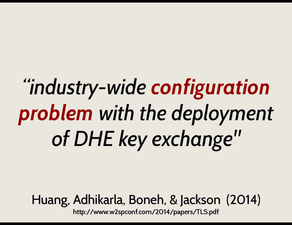 """industry-wide configuration problem with the d..."