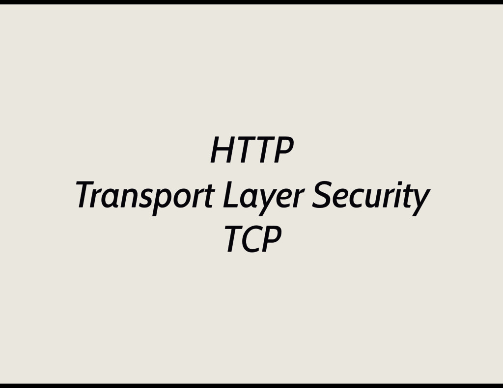 HTTP Transport Layer Security TCP