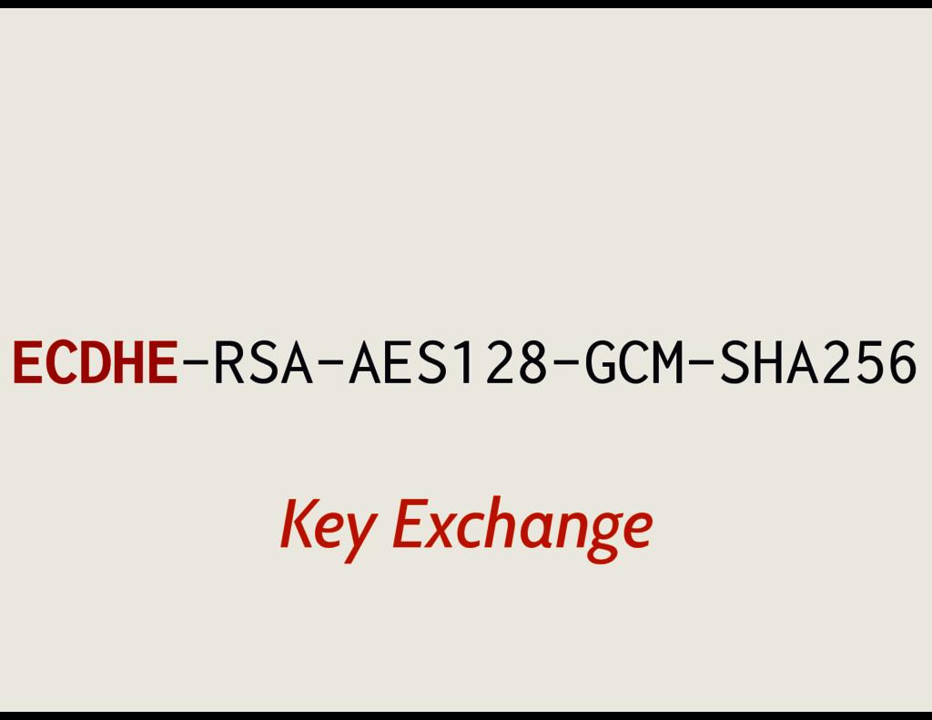 ECDHE-RSA-AES128-GCM-SHA256 Key Exchange