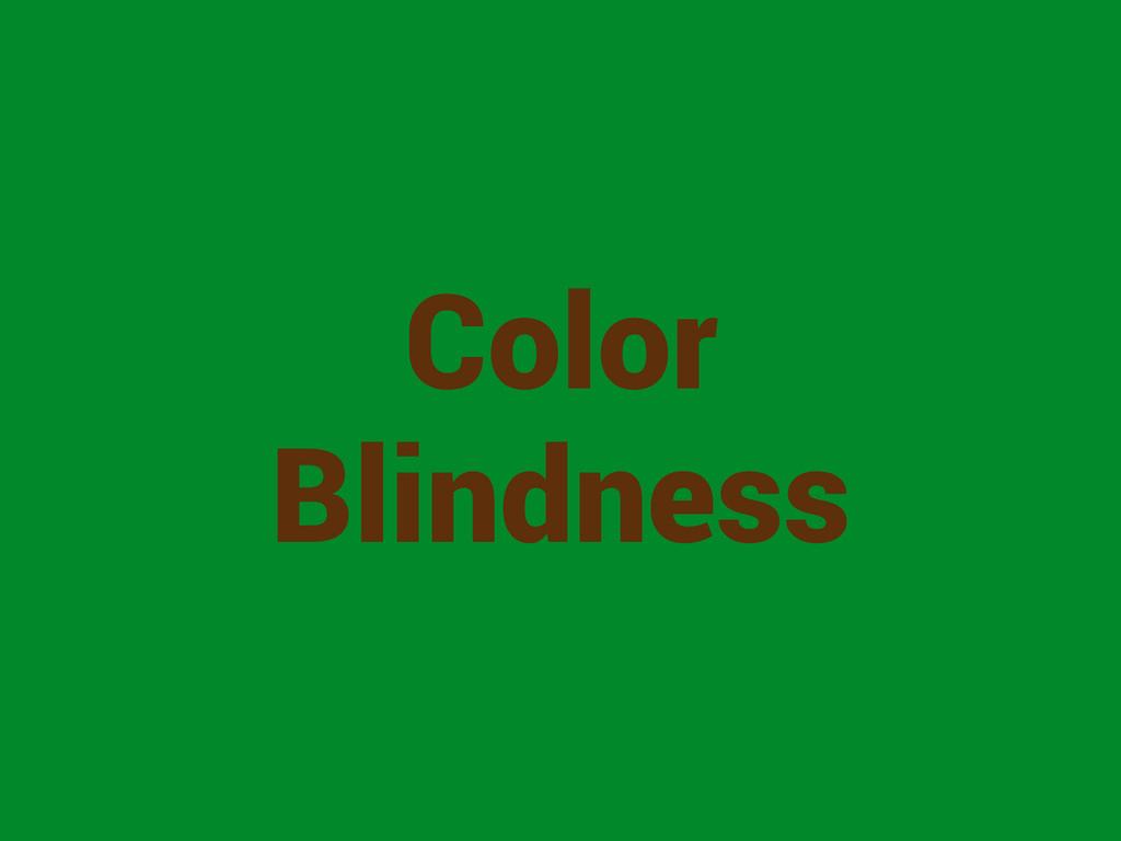 Color Blindness