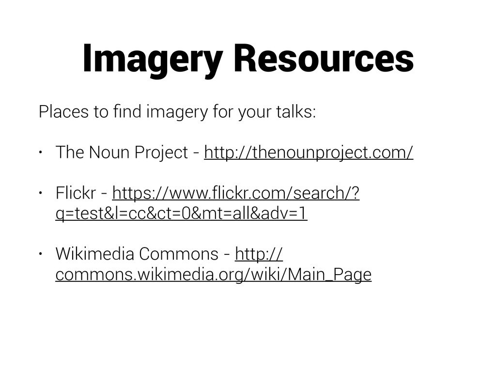 Imagery Resources Places to find imagery for you...