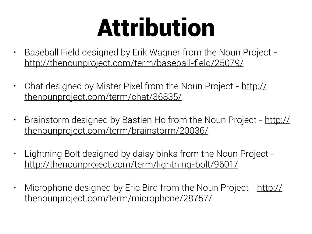 Attribution • Baseball Field designed by Erik W...