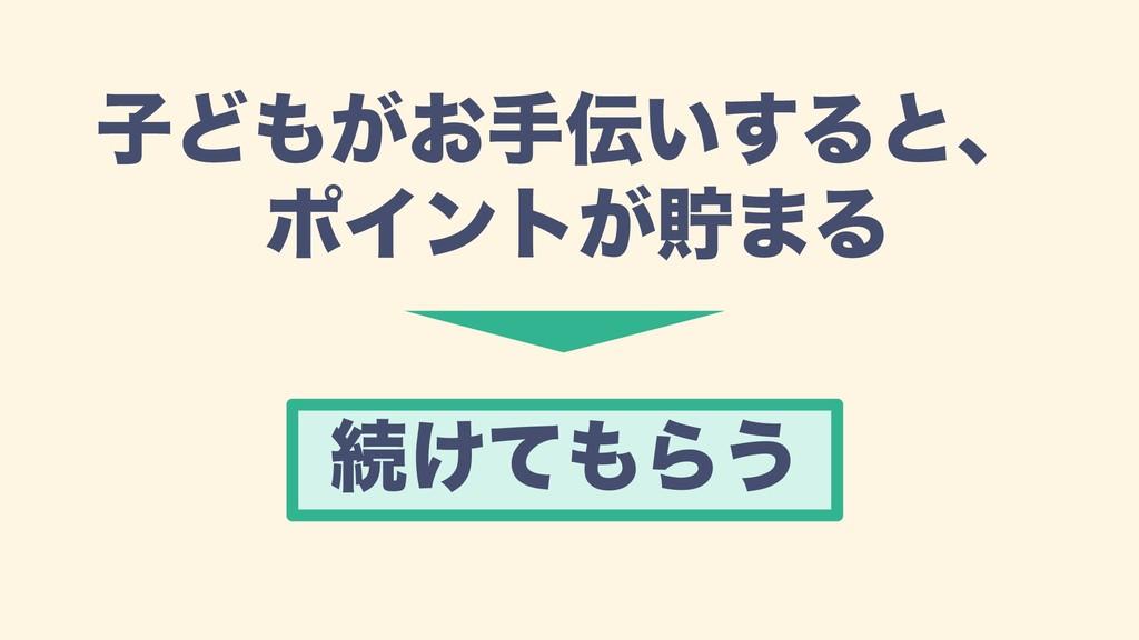 ࢠͲ͕͓ख͍͢Δͱɺ ϙΠϯτ͕ஷ·Δ ଓ͚ͯΒ͏
