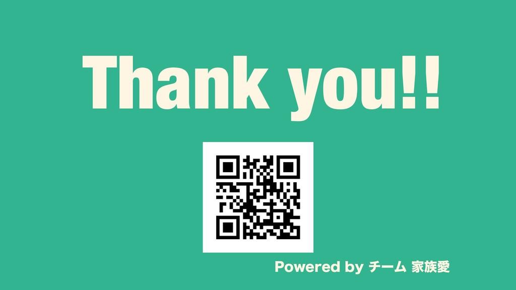 Thank you!! 1PXFSFECZνʔϜ ՈѪ