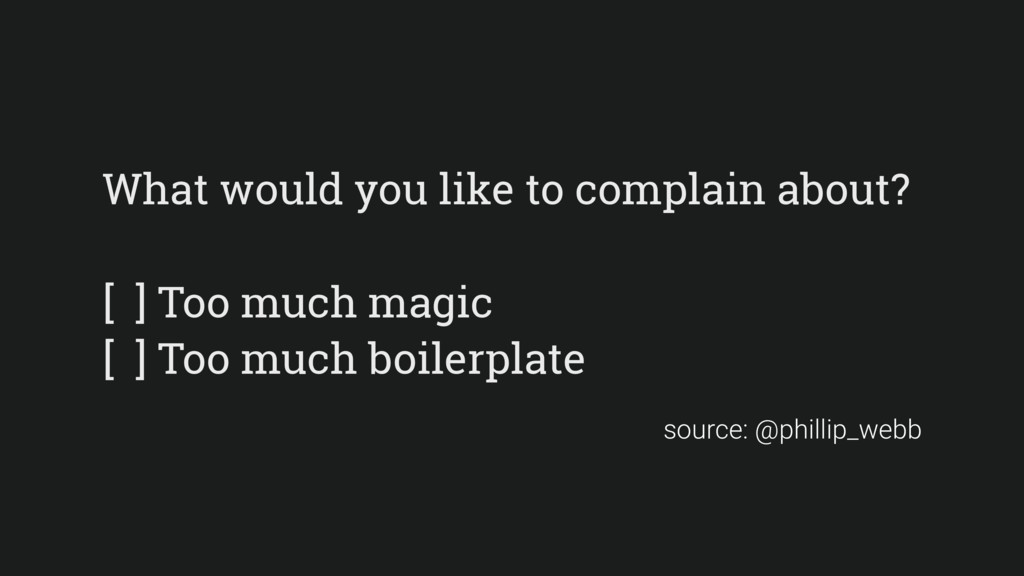 What would you like to complain about? [ ] Too ...