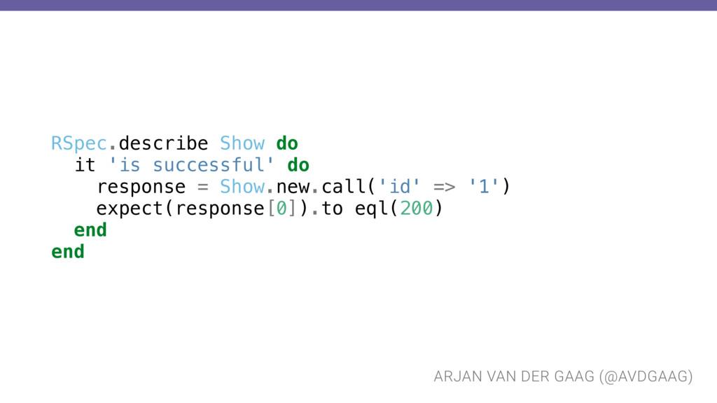 ARJAN VAN DER GAAG (@AVDGAAG) RSpec.describe Sh...