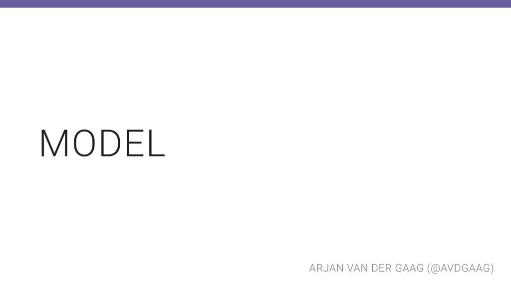 ARJAN VAN DER GAAG (@AVDGAAG) MODEL