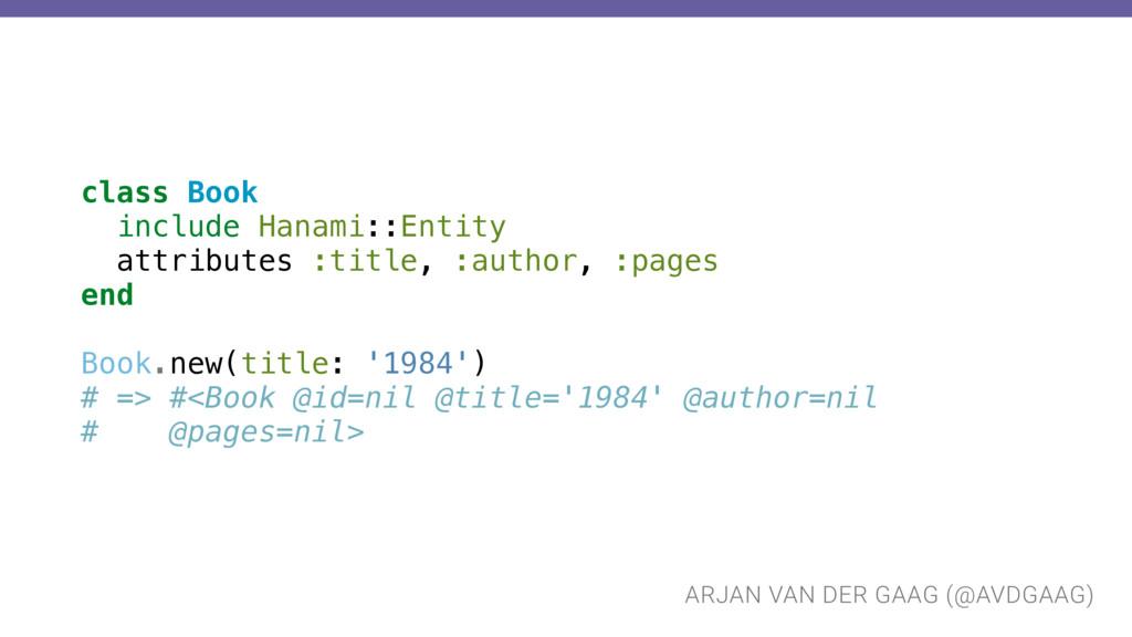 ARJAN VAN DER GAAG (@AVDGAAG) class Book includ...