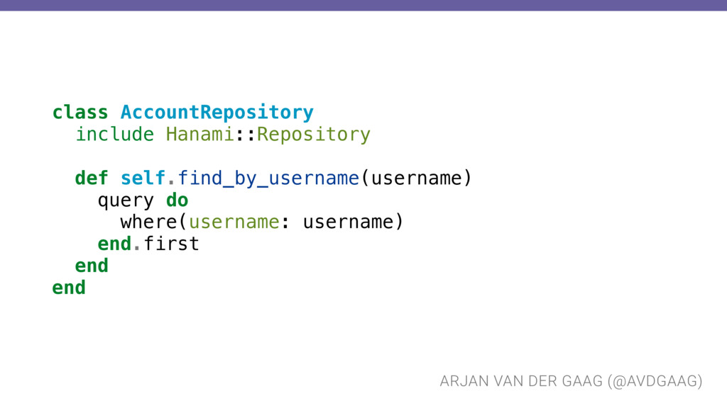 ARJAN VAN DER GAAG (@AVDGAAG) class AccountRepo...