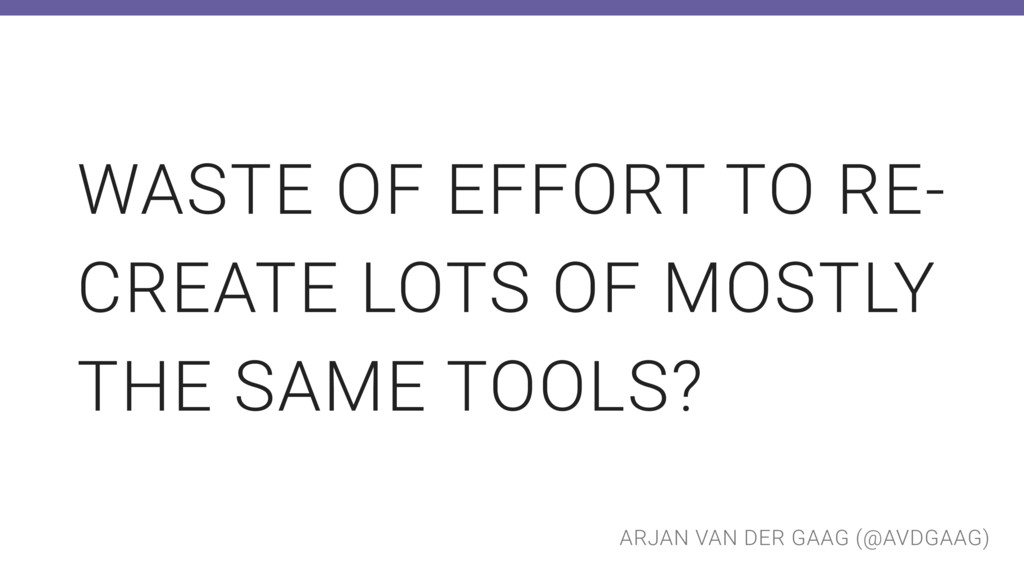 ARJAN VAN DER GAAG (@AVDGAAG) WASTE OF EFFORT T...