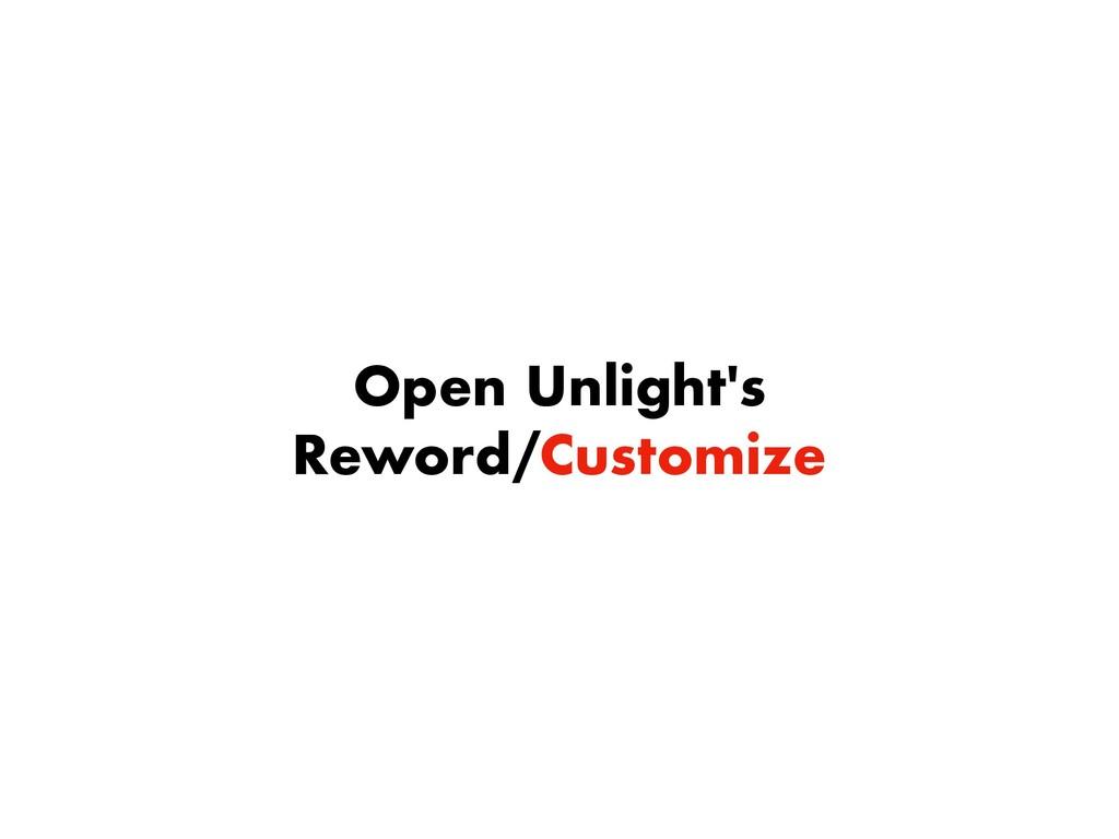 Open Unlight's Reword/Customize