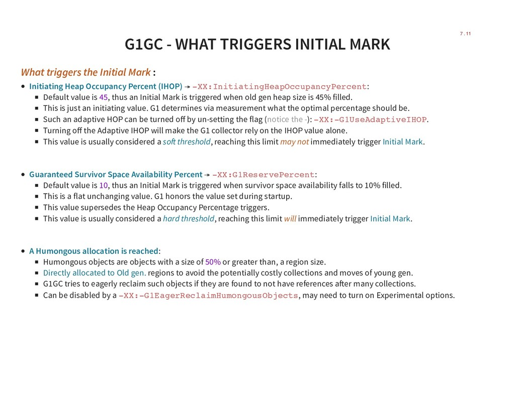 G1GC - WHAT TRIGGERS INITIAL MARK What triggers...