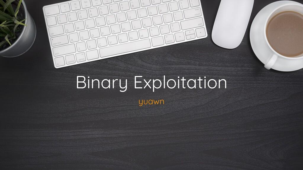 Binary Exploitation yuawn