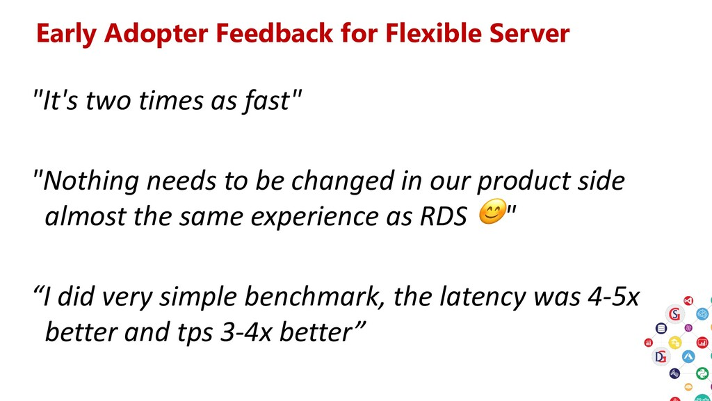 """Early Adopter Feedback for Flexible Server """"It'..."""