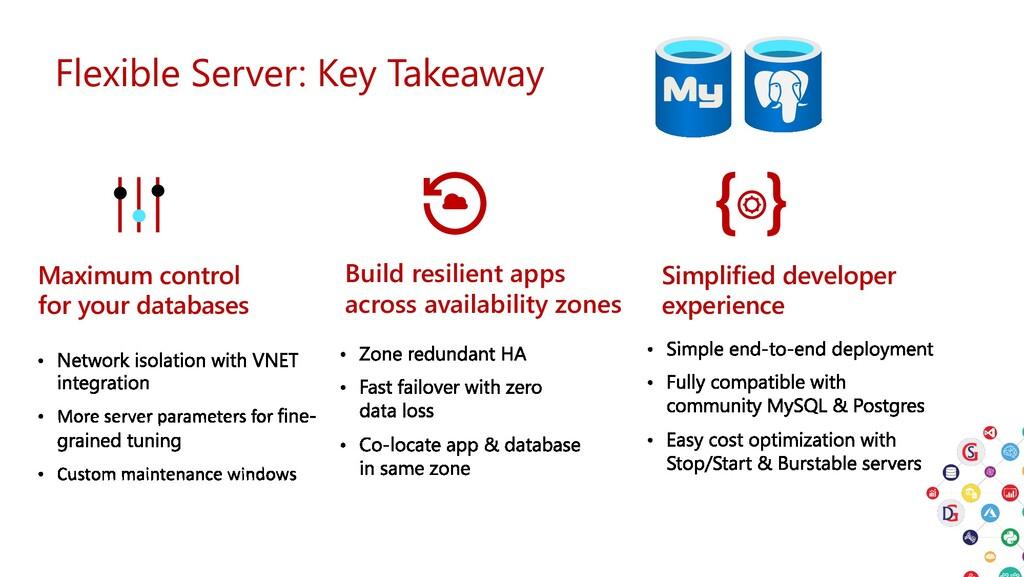 Flexible Server: Key Takeaway Build resilient a...