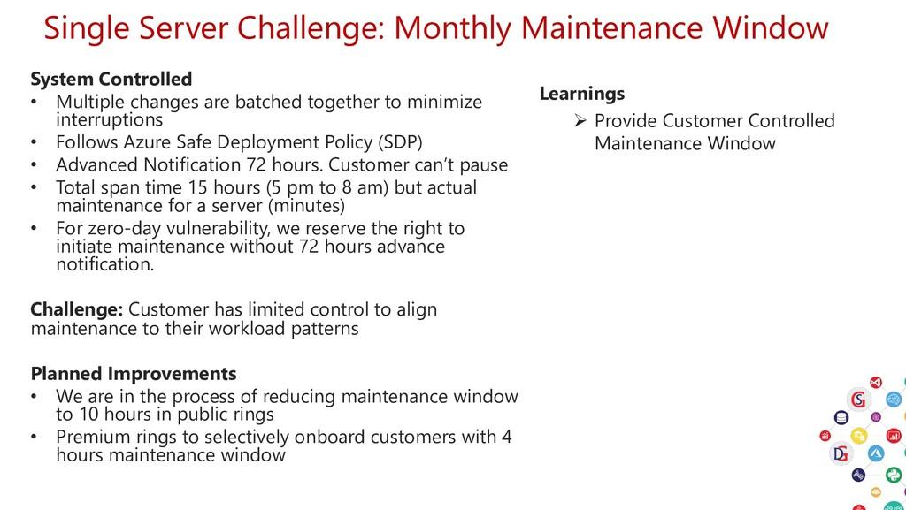 Single Server Challenge: Monthly Maintenance Wi...