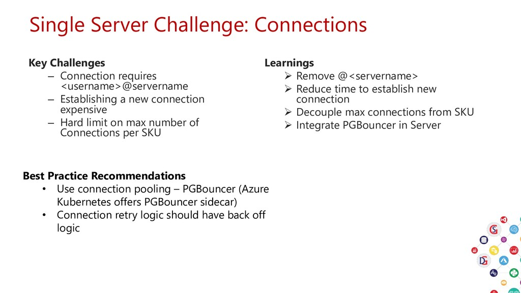 Single Server Challenge: Connections Key Challe...