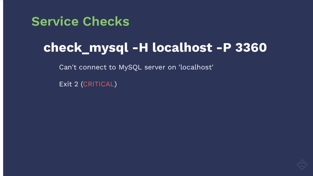 check_mysql -H localhost -P 3360 Can't connect ...