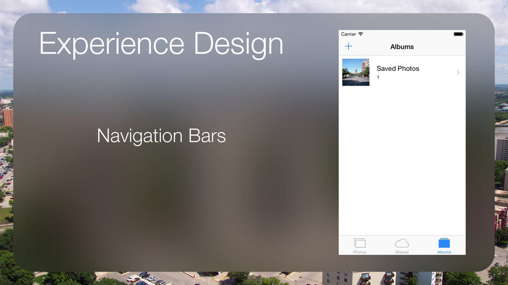 Experience Design Navigation Bars !