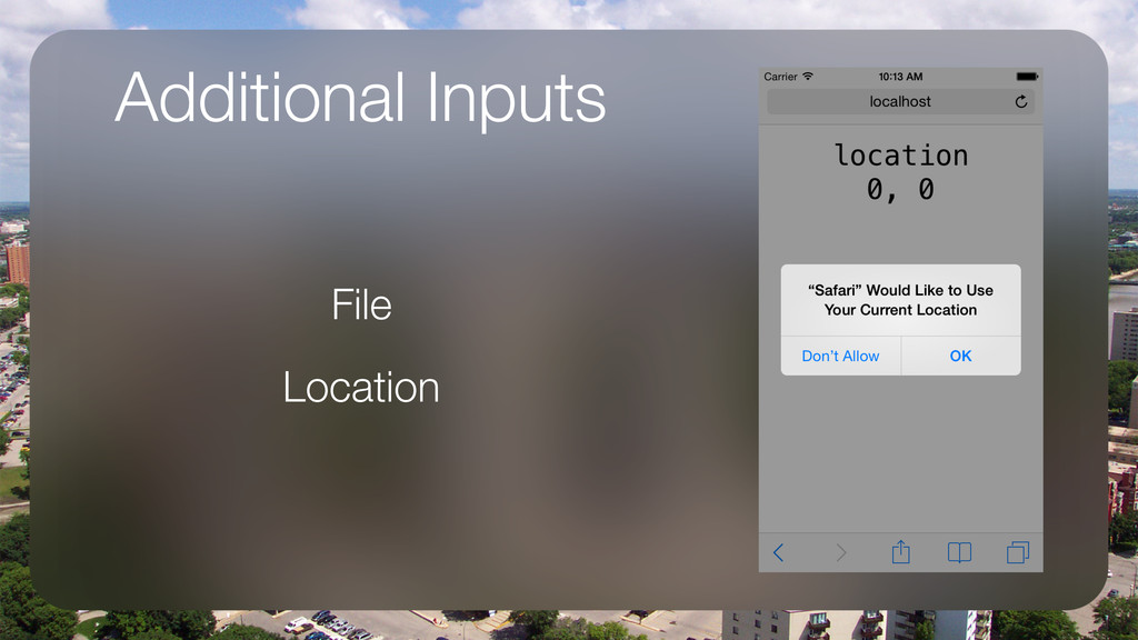 Additional Inputs File Location