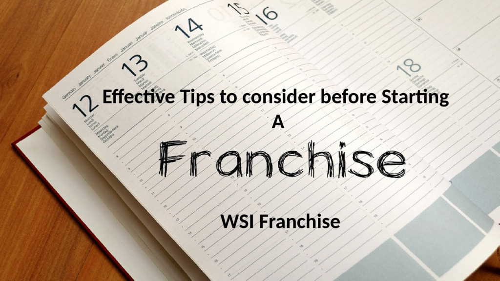 Effective Tips to consider before Starting A WS...