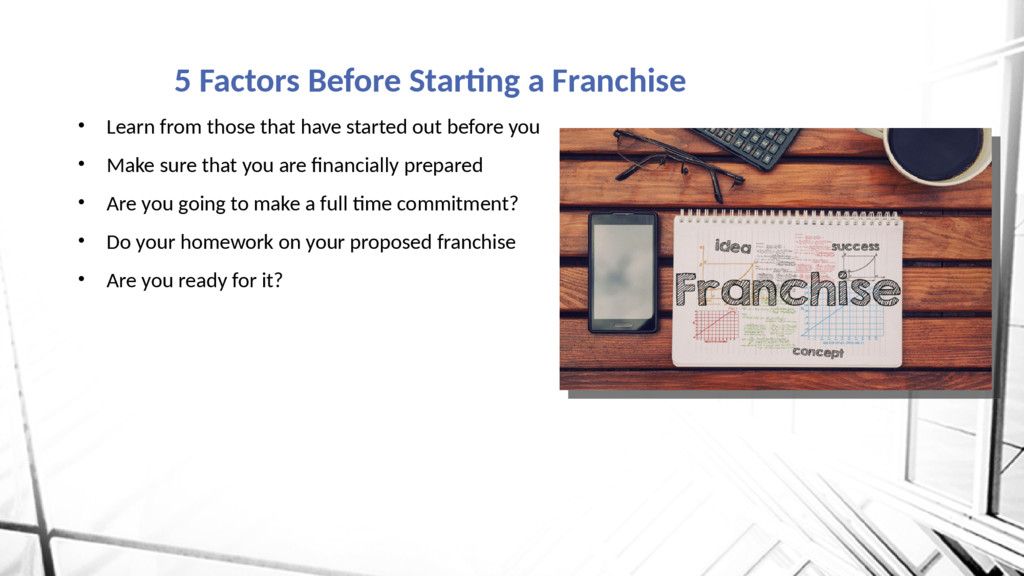 5 Factors Before Starting a Franchise • Learn f...