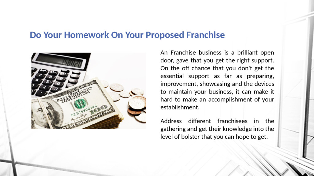 An Franchise business is a brilliant open door,...