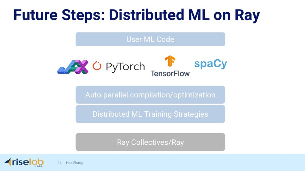 Future Steps: Distributed ML on Ray 24 Hao Zhan...