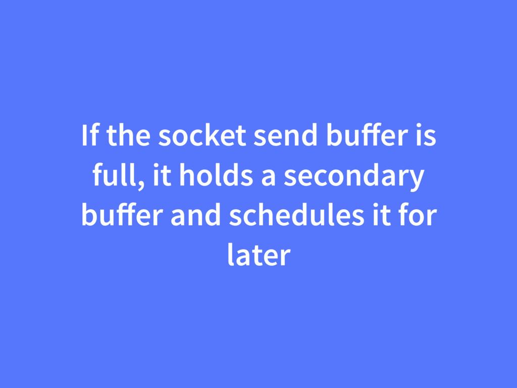 If the socket send buffer is full, it holds a se...