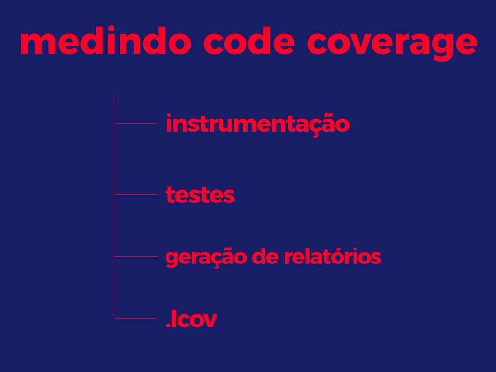 testes geração de relatórios .lcov medindo code...