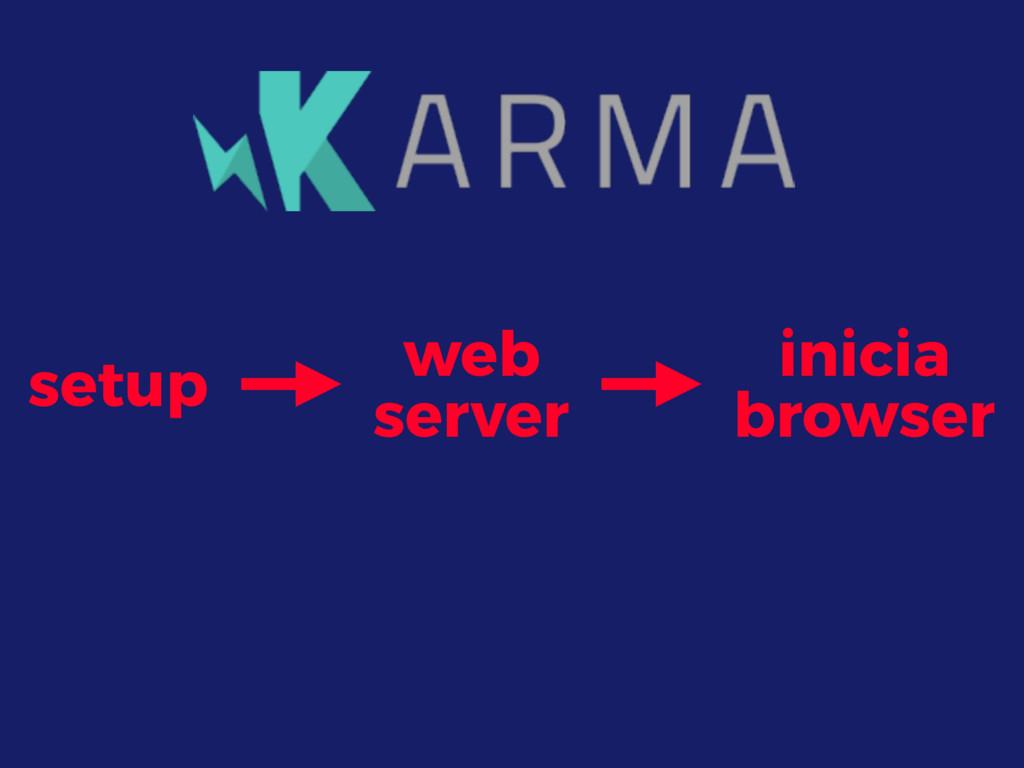 setup web server inicia browser