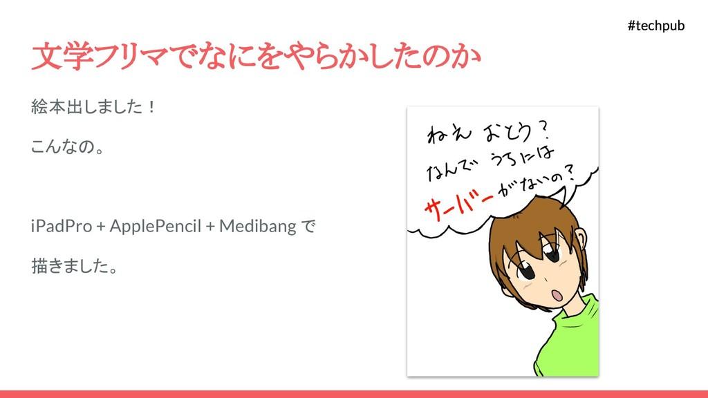 #techpub #techpub 文学フリマでなにをやらかしたのか 絵本出しました! こんな...