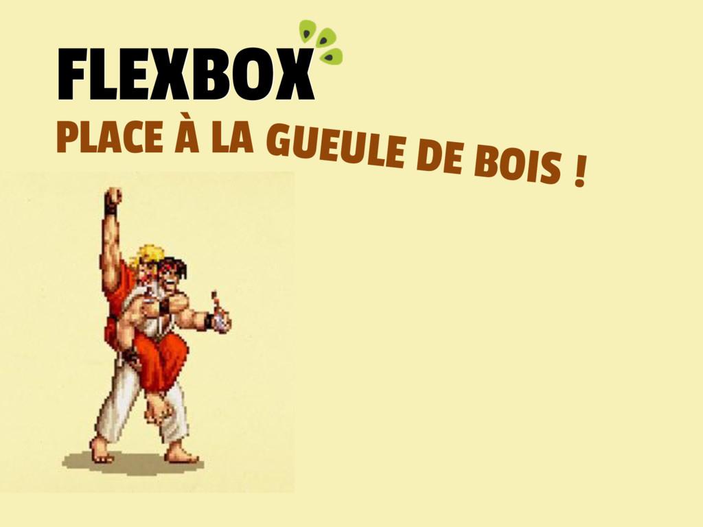 PLACE À LA FLEXBOX GUEULE DE BOIS !