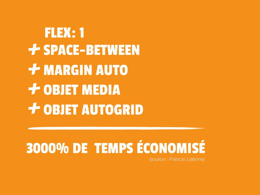 3000% DE TEMPS ÉCONOMISÉ FLEX: 1 SPACE-BETWEEN ...