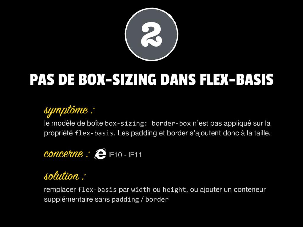 PAS DE BOX-SIZING DANS FLEX-BASIS le modèle de ...