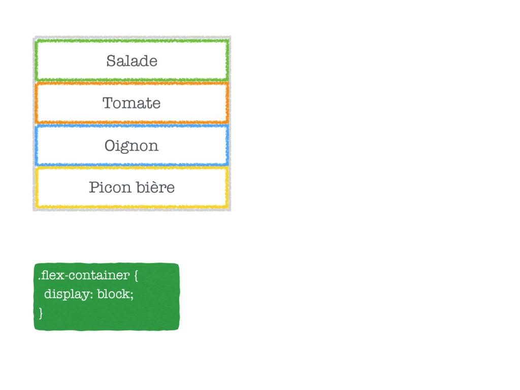 Salade Tomate Oignon Picon bière .flex-container...