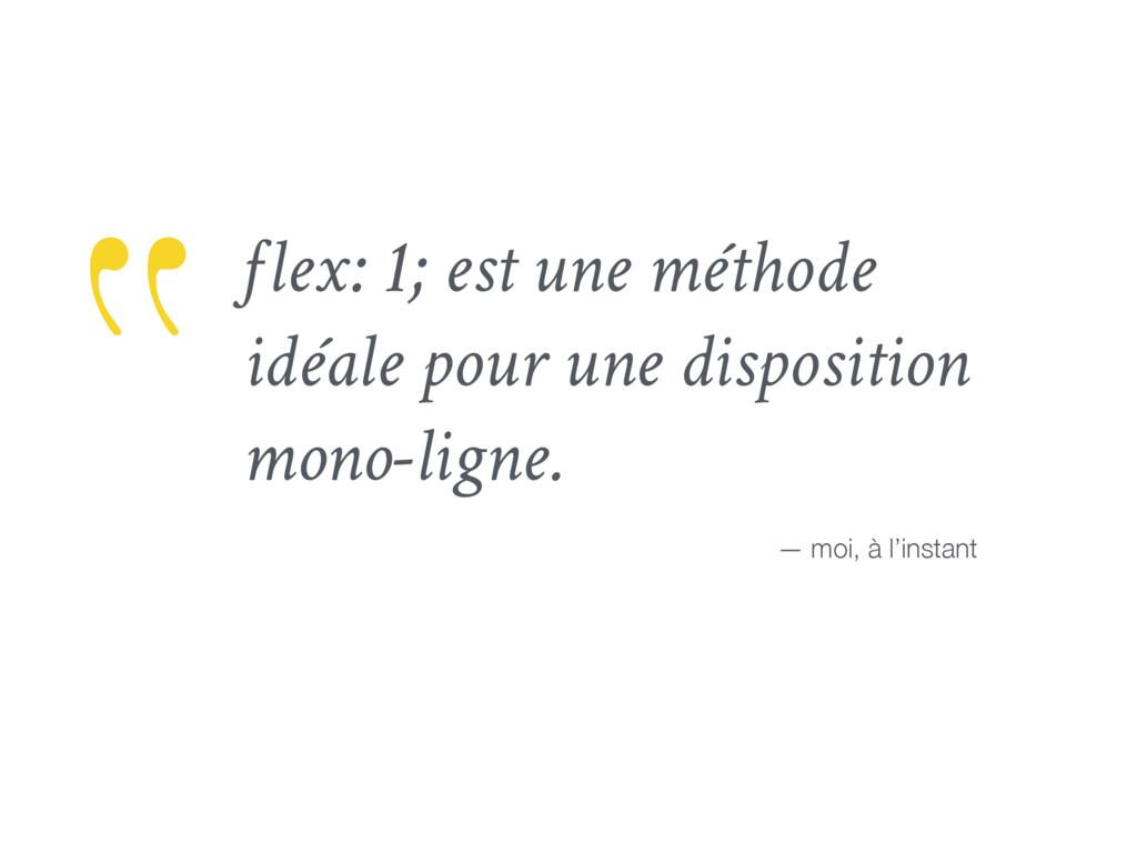 flex: 1; est une méthode idéale pour une dispos...