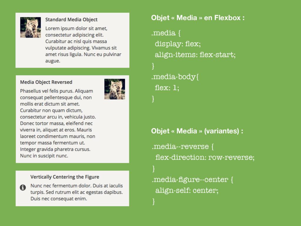 .media { display: flex; align-items: flex-start; ...