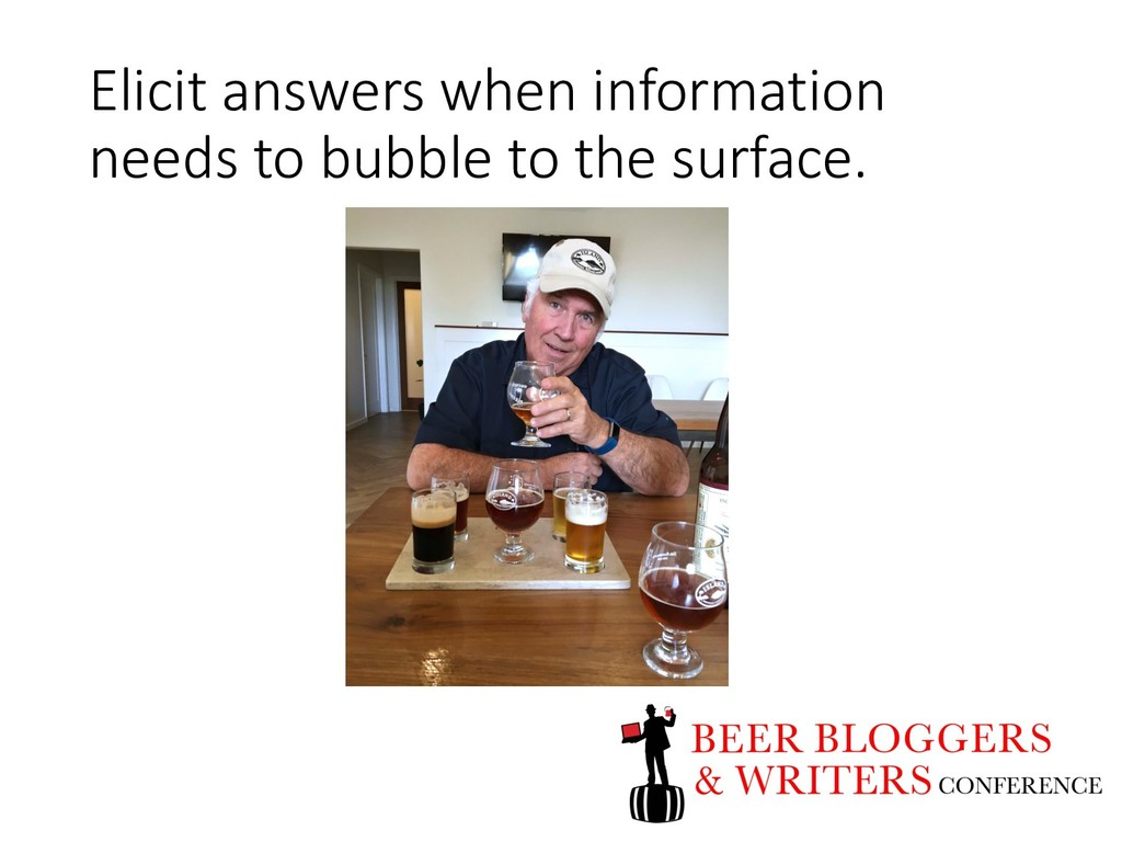 Elicit answers when information needs to bubble...